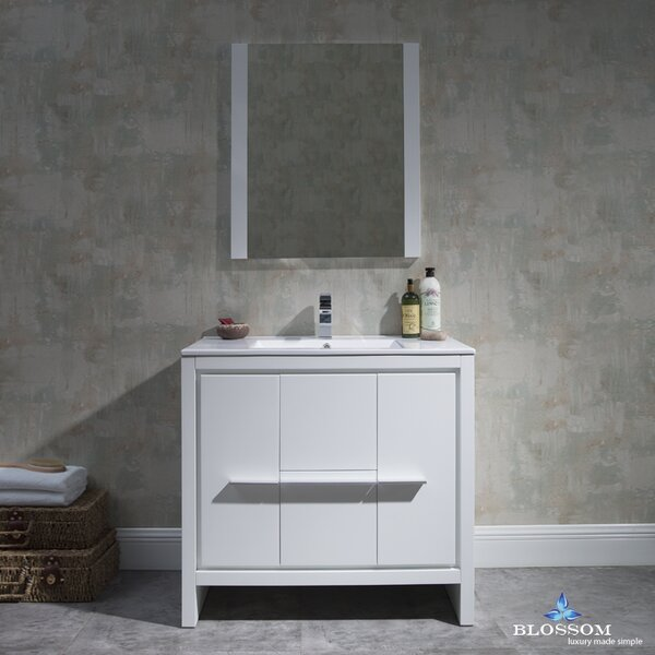 Artemis Modern 35 Single Bathroom Vanity Set with Mirror by Ivy Bronx