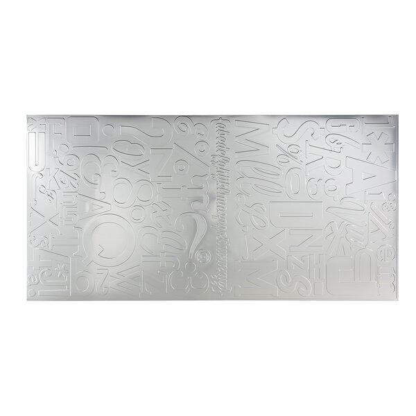 Alphabet 48 x 96 PVC Backsplash Panel in Brushed Aluminum by Fasade