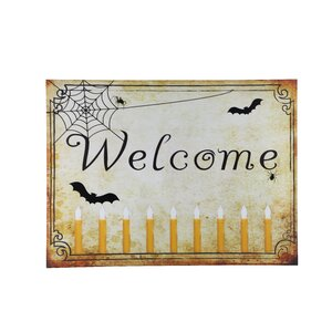 Welcome Halloween Lit' Graphic Art on Canvas by Design House