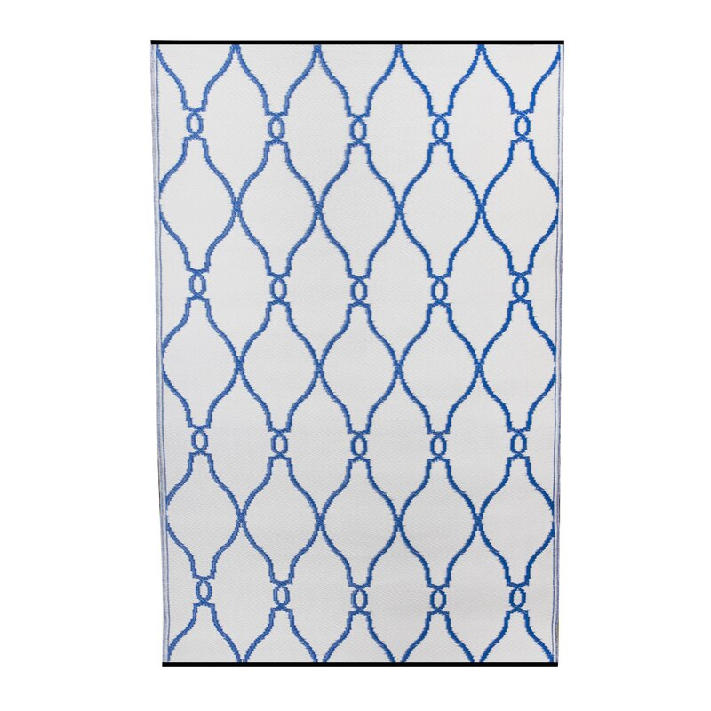 Fox Hill Trading Premier Home Hand Woven Blue White Indoor