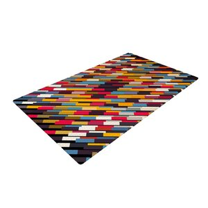 Danny Ivan Texturize Red/Blue Area Rug