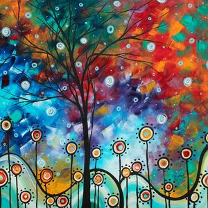 Field Of Joy' by Megan Duncanson Framed Painting Print on Wrapped Canvas by World Menagerie