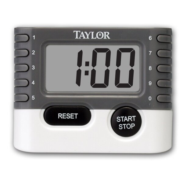 Classic 10 Key Digital Timer (Set of 6) by Taylor