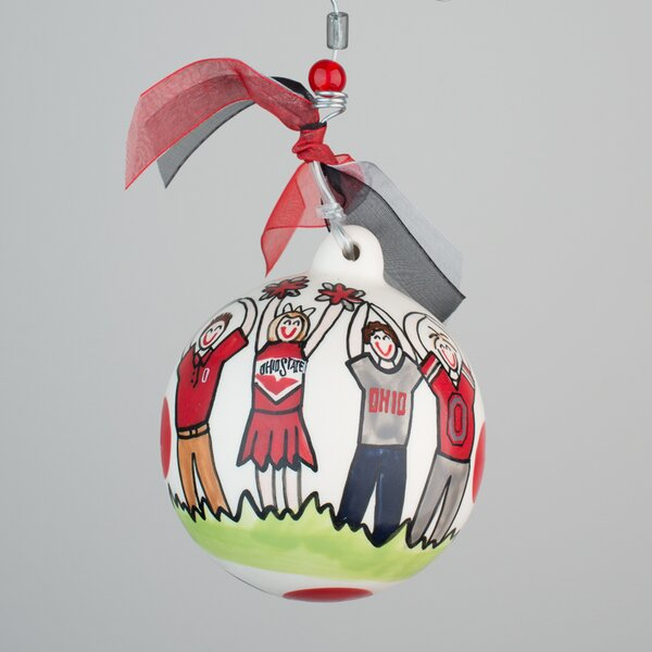 Ohio State Ball Ornament by Glory Haus