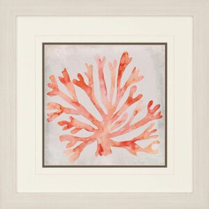 Watercolor Coral III by Meaghe Framed Painting Print by Paragon