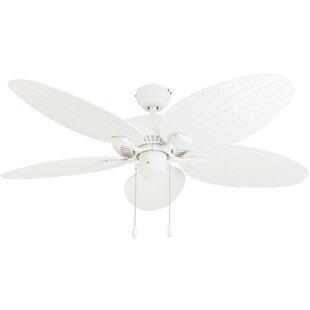 Portable ceiling fan wayfair 52 kalea 5 blade outdoor ceiling fan aloadofball Image collections