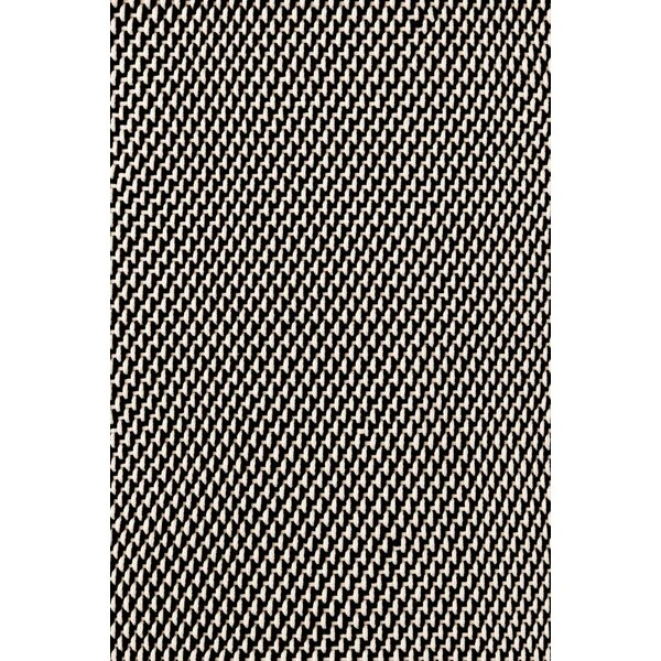 Two-Tone Rope Hand-Woven Black/White Indoor/Outdoor Area Rug by Dash and Albert Rugs