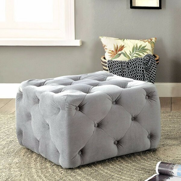 Denys Tufted Cocktail Ottoman by House of Hampton