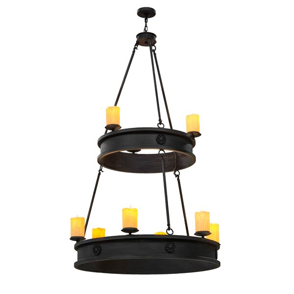 Taft Avenue 9 - Light Candle Style Tiered Chandelier By Foundry Select