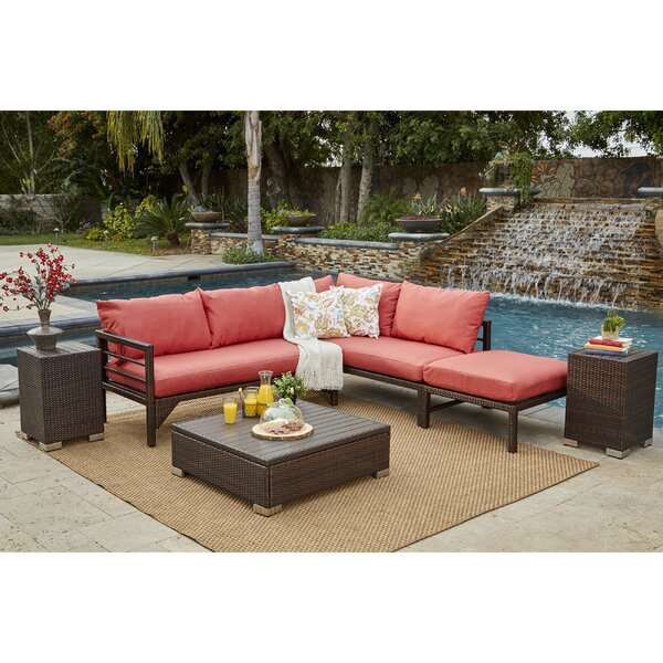 Sarver 6 Piece Rattan Conversation Set with Cushions by Ivy Bronx