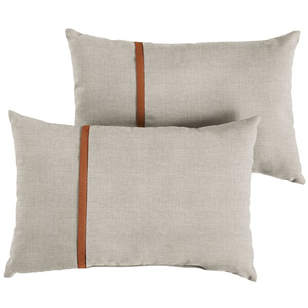 Christner Indoor/Outdoor Lumbar Pillow (Set of 2) by Corrigan Studio