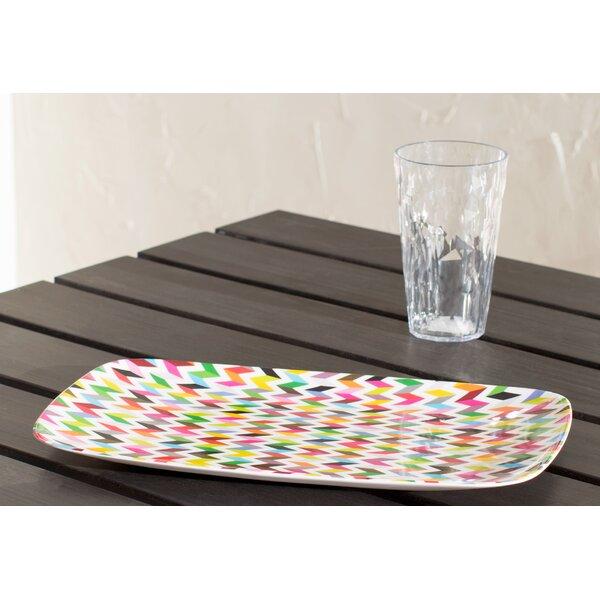 Ziggy Melamine Rectangular Platter (Set of 2) by French Bull