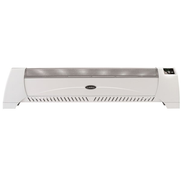 Silent Room Digital Display 1,500 Watt Electric Convection Baseboard Heater by Lasko