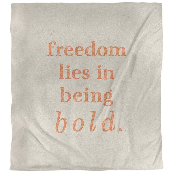 Quotes Handwritten Be Bold Inspirational Single Reversible Duvet Cover