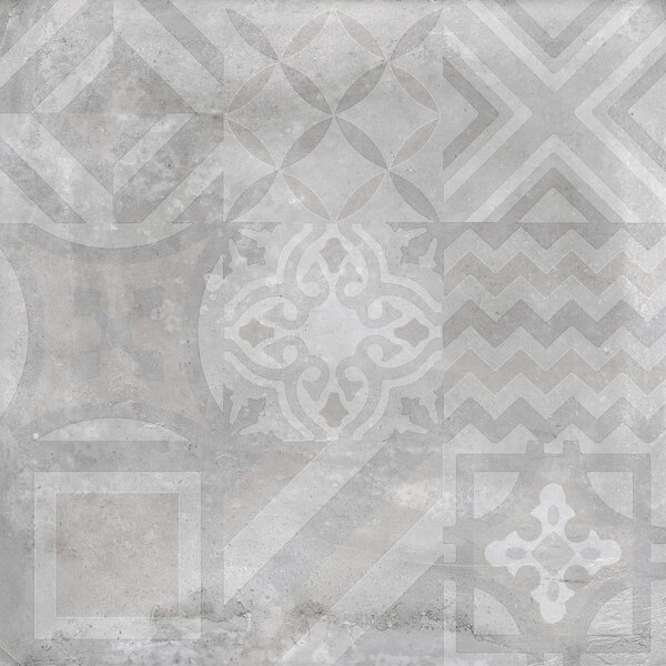 Alive 24 x 24 Porcelain Tile in Gray Deco by Madrid Ceramics