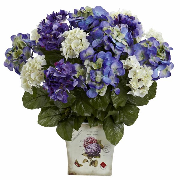 Mixed Hydrangea with Floral Planter by Lark Manor