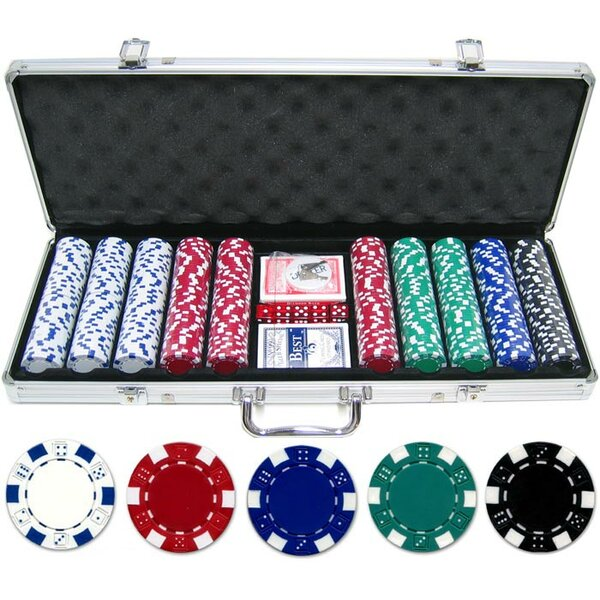 500 Piece Dice Poker Chip Set by JP Commerce