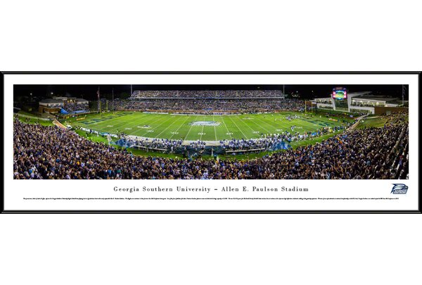 NCAA Georgia Southern University by Sacha Griffin Framed Photographic Print by Blakeway Worldwide Panoramas, Inc