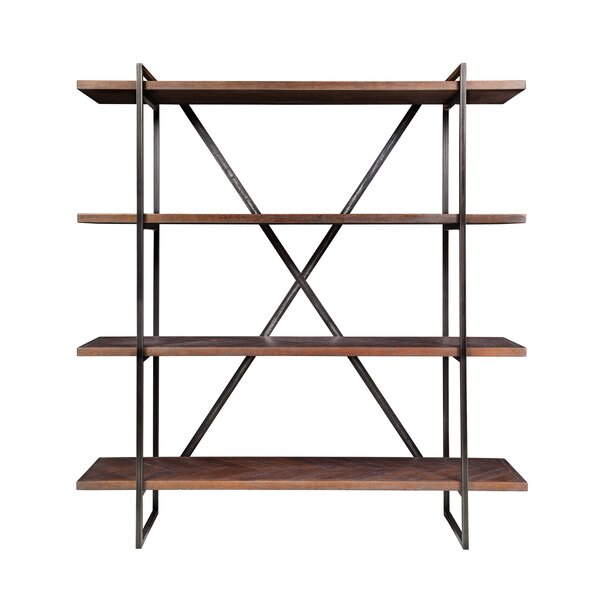 Herringbone Inlay Etagere Bookcase by Design Tree Home