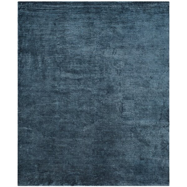 Wald Hand Woven Blue Area Rug by Mercer41
