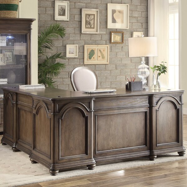 Nesbitt L-Shape Executive Desk by Three Posts