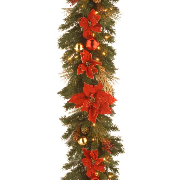 Pre-Lit Home Spun Garland by The Holiday Aisle