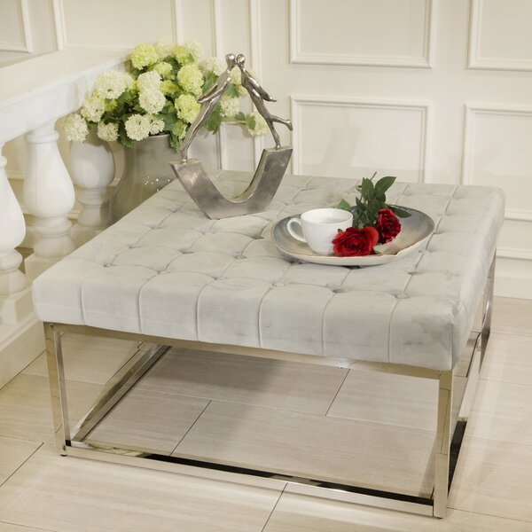 Peterlee Tufted Ottoman by Everly Quinn