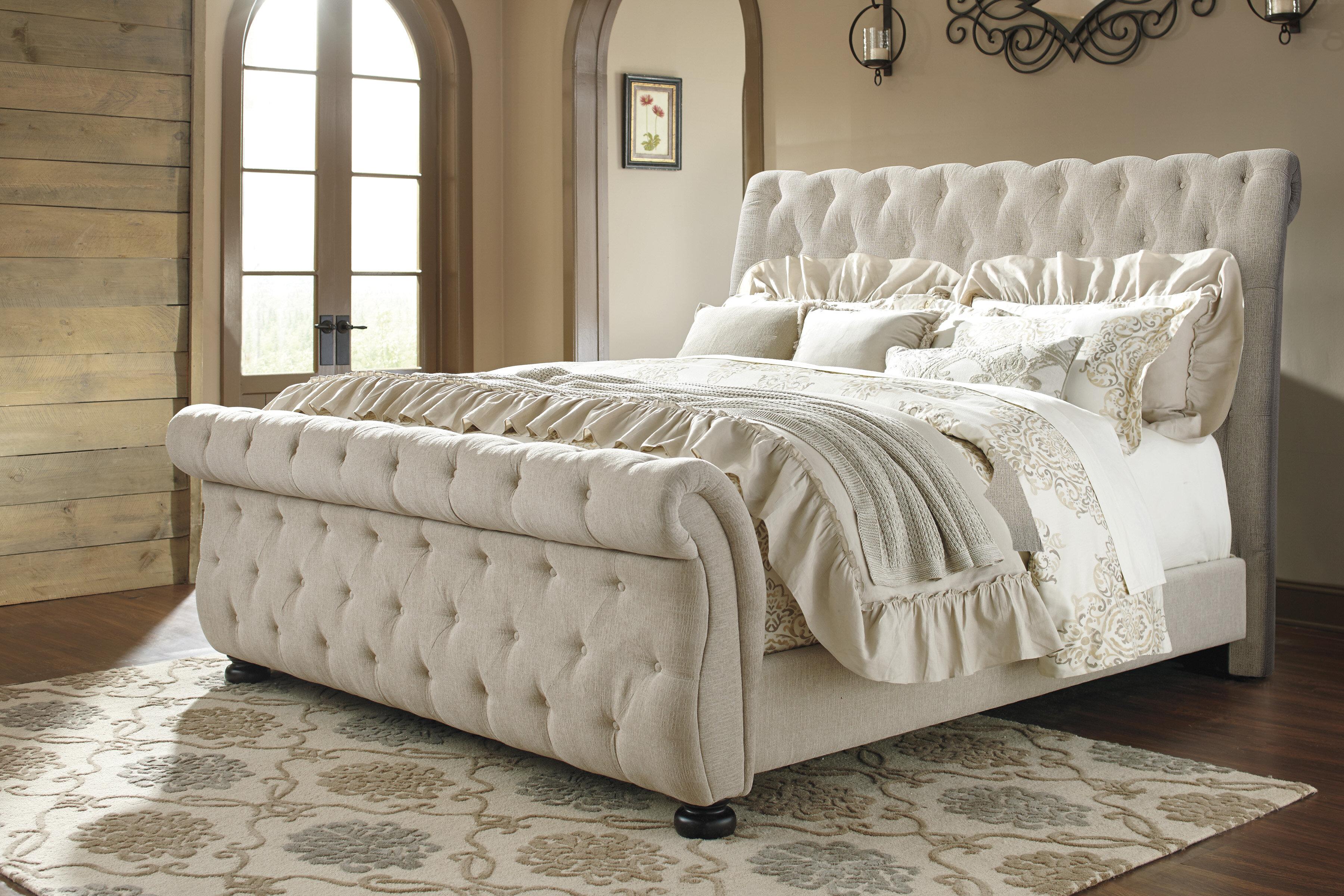 - Greyleigh Ballwin Upholstered Sleigh Bed & Reviews Wayfair