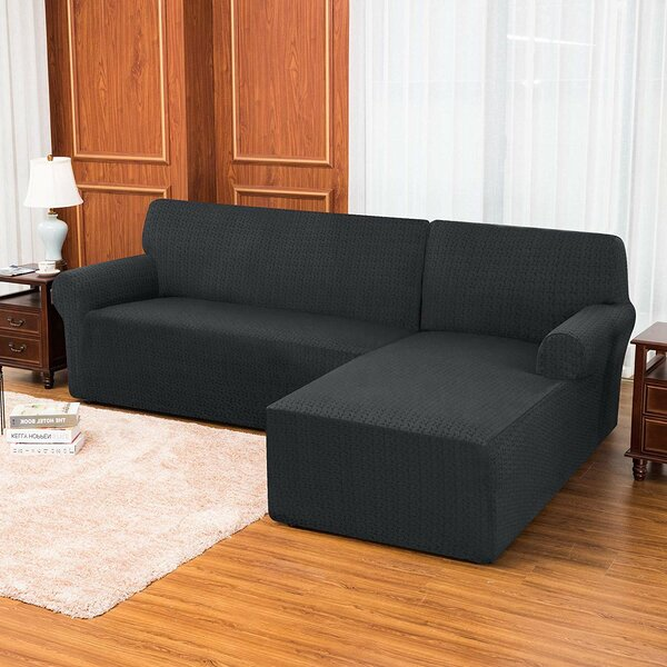 2 Pieces L-shaped Box Cushion Sofa Slipcover By Latitude Run