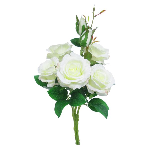 Elegant Bundle Rose Floral Arrangement (Set of 4) by House of Hampton