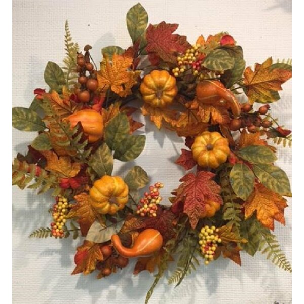 Harvest Fall Thanksgiving Wreath by The Holiday Aisle