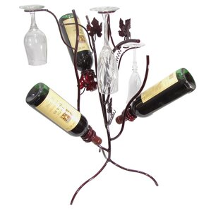 Grapevine Stem Tree 3 Bottle Tabletop Wine Rack by Metrotex Designs