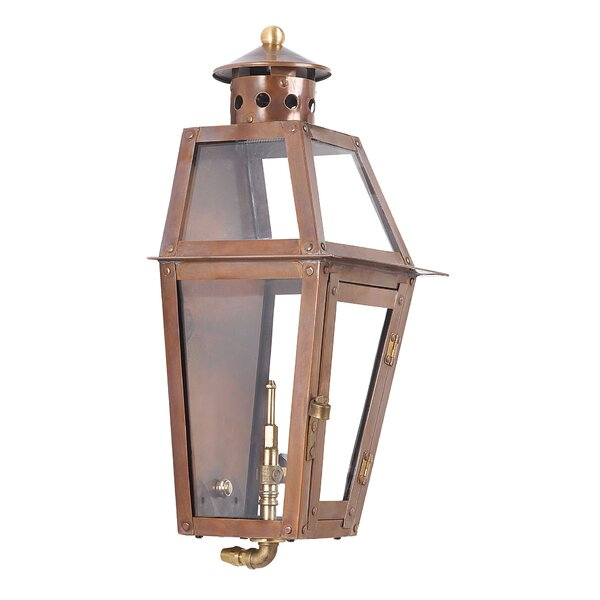 Agros 1-Light Outdoor Wall Lantern by Bay Isle Home