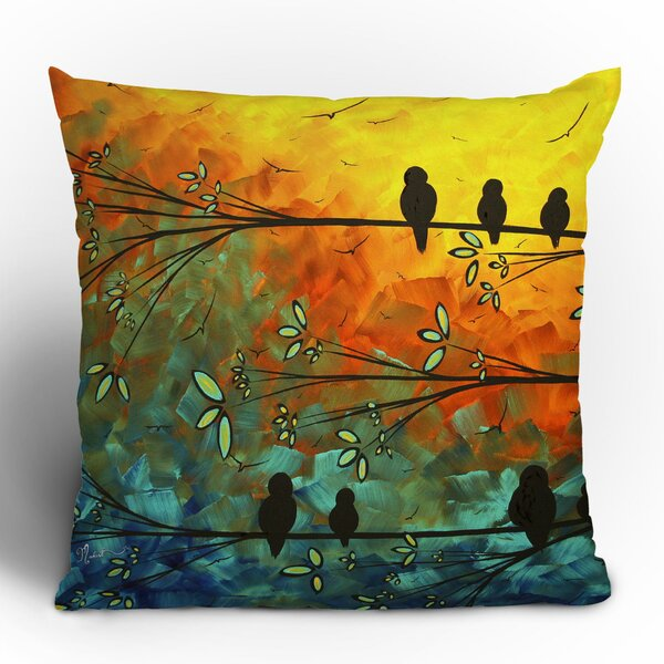Madart Inc. Birds Of A Feather Throw Pillow by Deny Designs