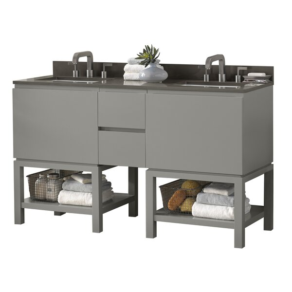 Jenna 60 Double Bathroom Vanity Set by Ronbow