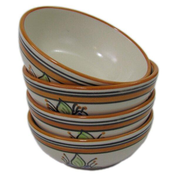 Salvena 8 oz. Stoneware Deep Sauce/Ice Cream Bowl (Set of 4) by Le Souk Ceramique