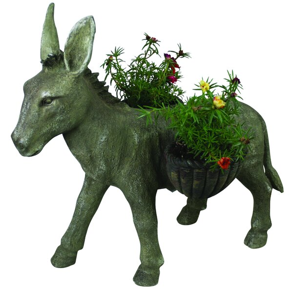 Donkey Resin Statue Planter by Expo Decor LLC