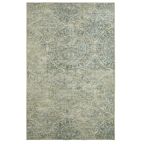 Trahan Green/Beige Area Rug by Bungalow Rose