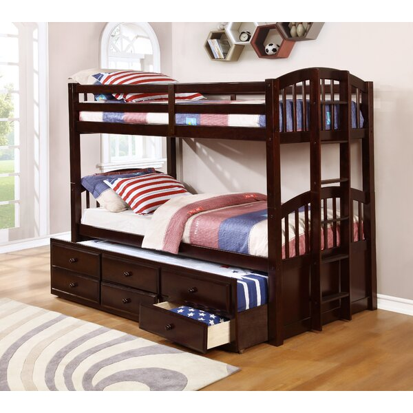 Alcesta Menlo Twin over Twin Standard Bed with Trundle by Harriet Bee