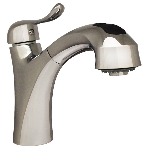 Jem Single Handle Faucet with Pull Out Spray Head by Whitehaus Collection