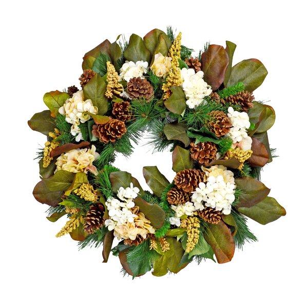 Floral and Mangolia Leaf Wreath by Creative Displays, Inc.