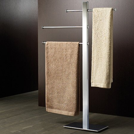 Bridge Sliding 3-Tier Free Standing Towel Stand by Gedy by Nameeks