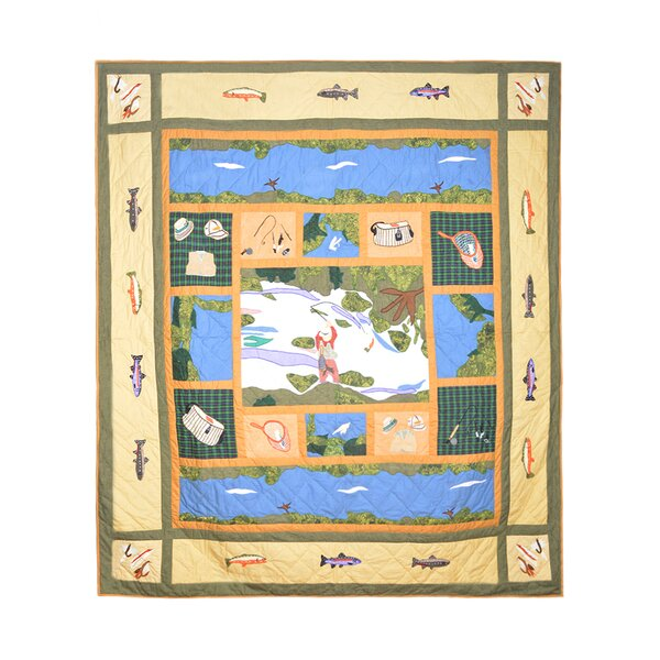 Fly Fishing Single Reversible Quilt