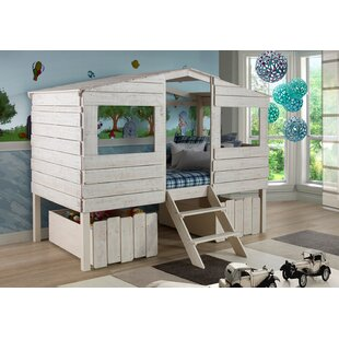 Cabin Lofted Bed With Storage