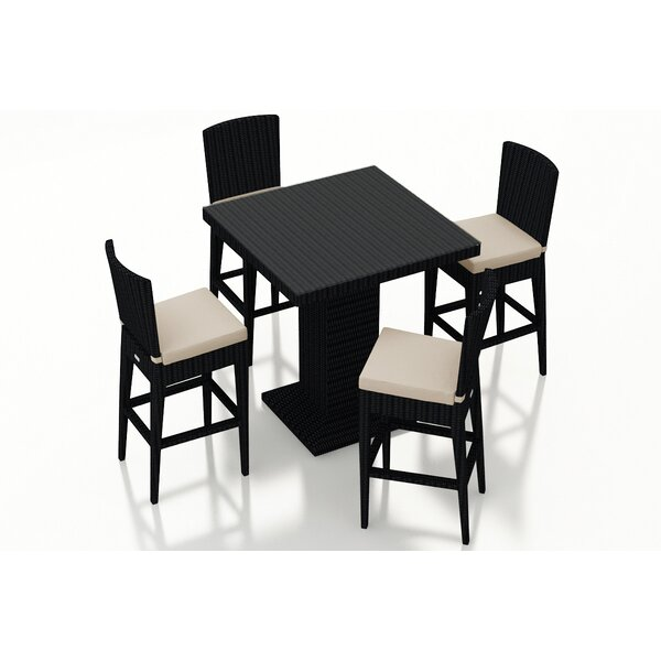 District 5 Piece Bar Height Dining Set with Cushions by Harmonia Living