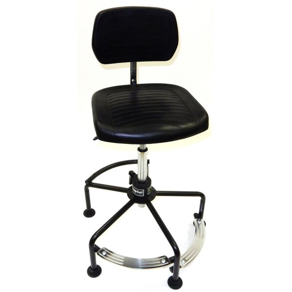 Tubular Base Height Adjustable Drafting Chair by Symple Stuff
