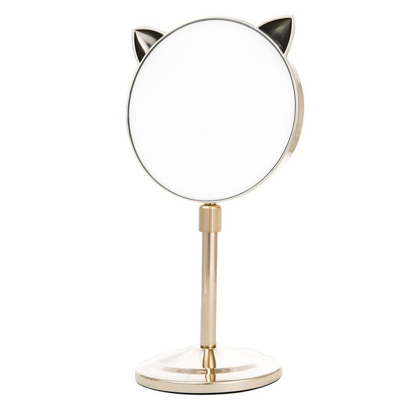 Kowalsky Cat Ear Extendable Makeup/Shaving Mirror by Zoomie Kids