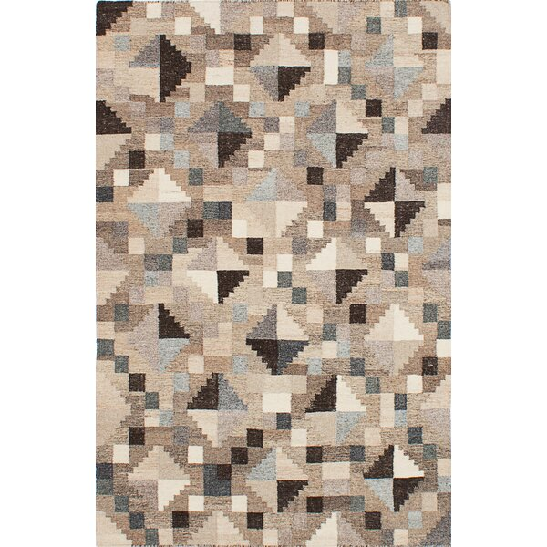 Tribeca Hand-Woven Gray/Brown/Beige Area Rug by ECARPETGALLERY