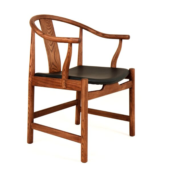 Ming Genuine Leather Upholstered Dining Chair by dCOR design dCOR design