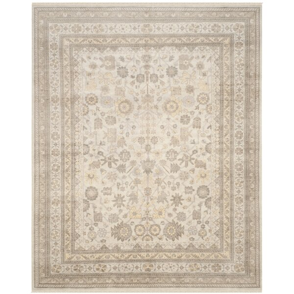 Maxie Sultanabad Hand Knotted Wool/Cotton Ivory Area Rug by Darby Home Co